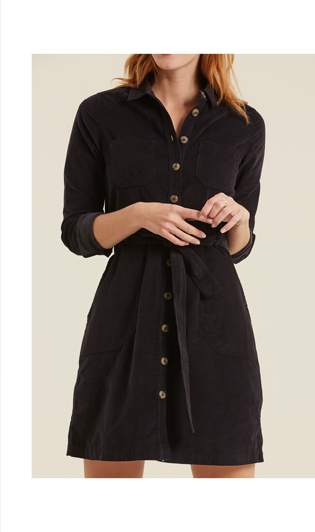 Harlow Cord Shirt Dress